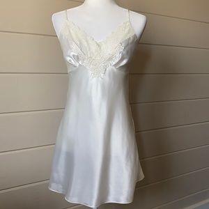 VICTORIA'S SECRET Vintage Satin & Lace Slip Dress
